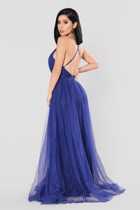 On The Runway Maxi Dress - Royal Blue