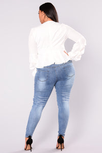 Beverly Skinny Jeans - Light Blue Angle 11