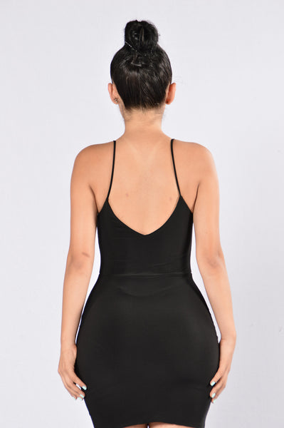 Take Me Out to the Bar Dress - Black