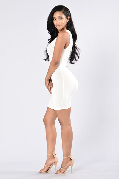 Shred of Guilt Dress - White