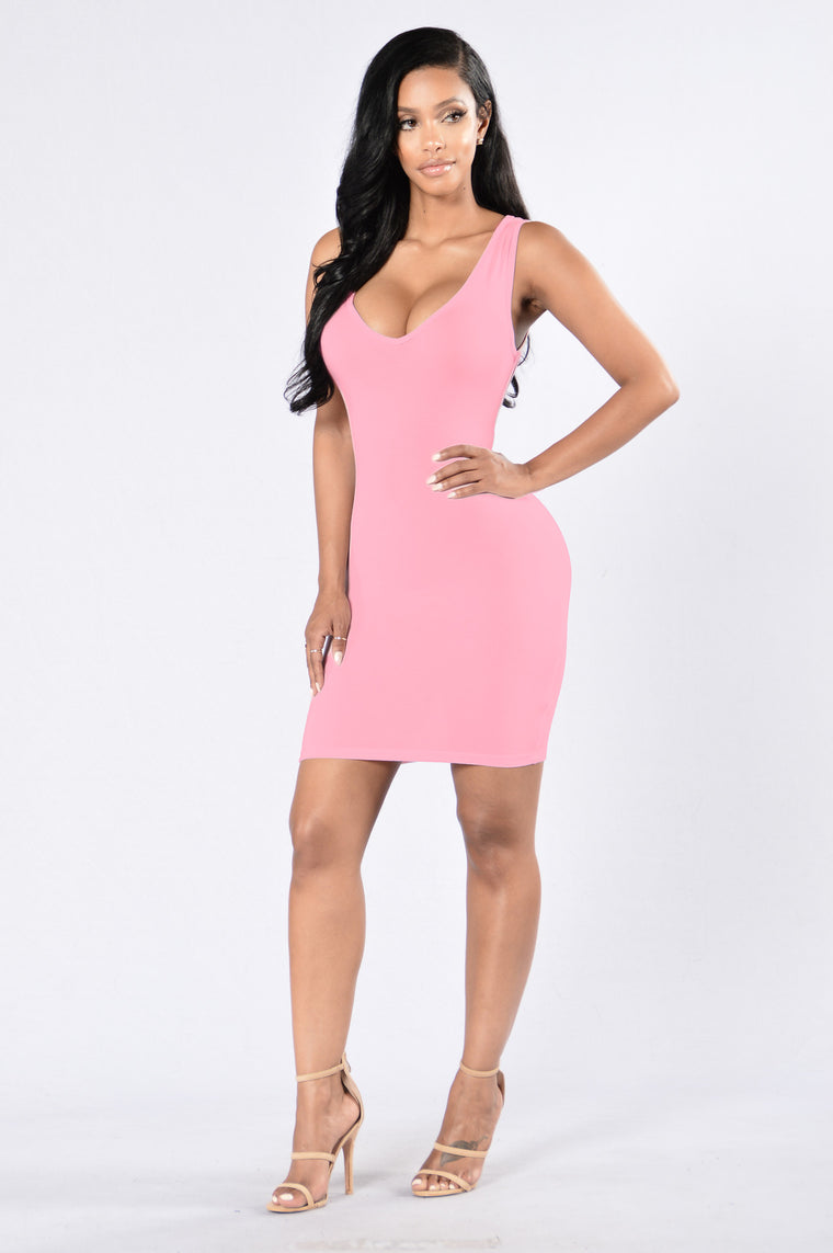 Shred of Guilt Dress - Pink