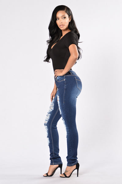 Subway Diva Jeans - Dark Blue