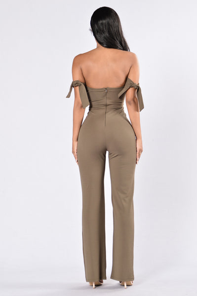 Never Worried Jumpsuit - Olive