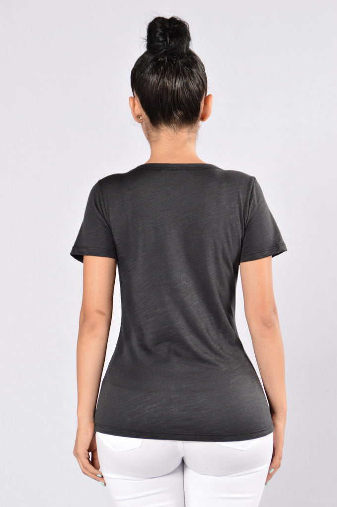 Casually Cute Tee - Black