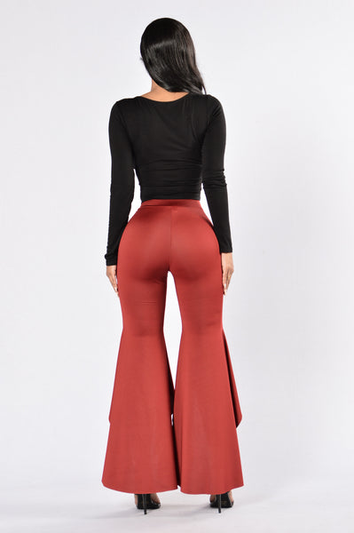 Chiquita Pants - Burgundy