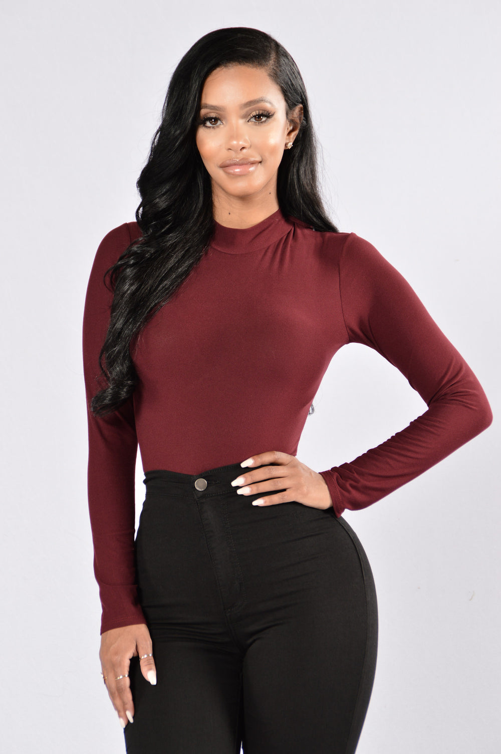 On The Low Bodysuit - Burgundy
