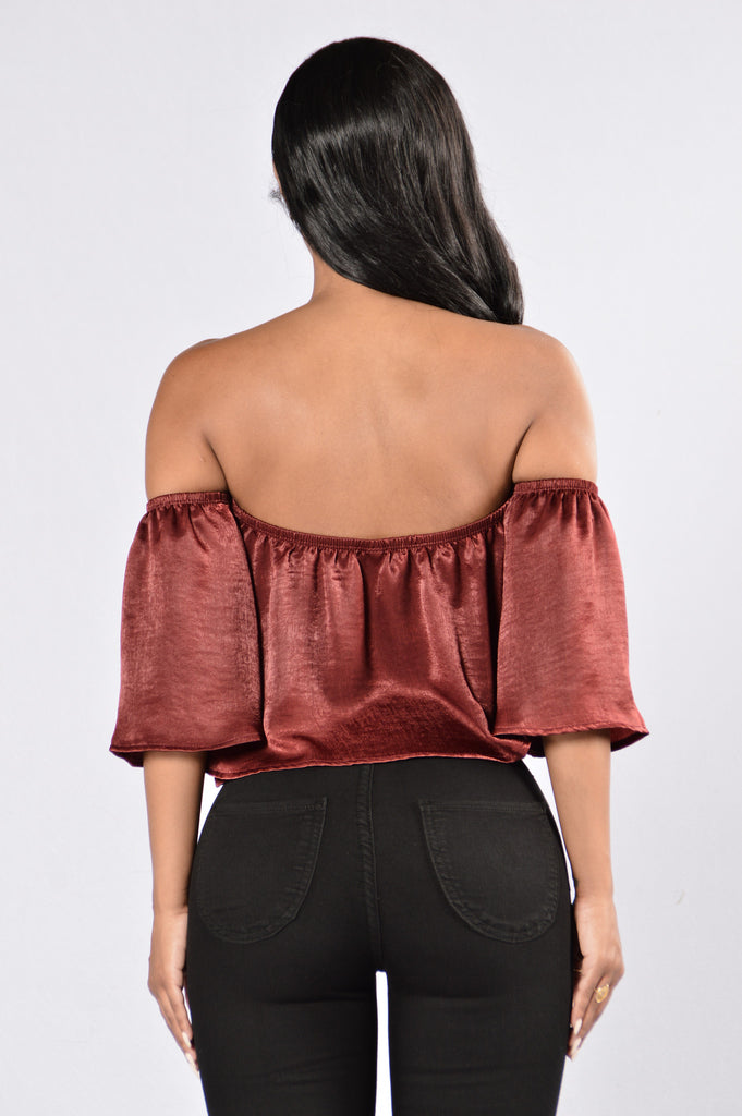 Favorite Girl Top - Burgundy
