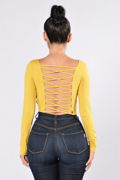 Back And Forth Top - Mustard
