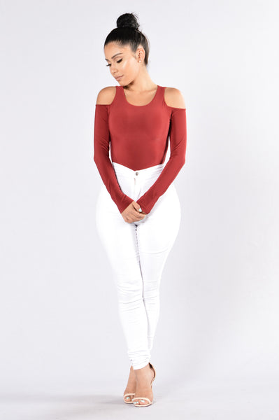Seduction Bodysuit - Burgundy
