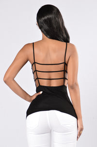 From the Back Tank Top - Black Angle 2