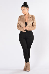 Fall Into Suede Jacket - Khaki