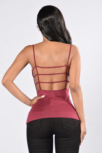 From the Back Tank Top - Wine