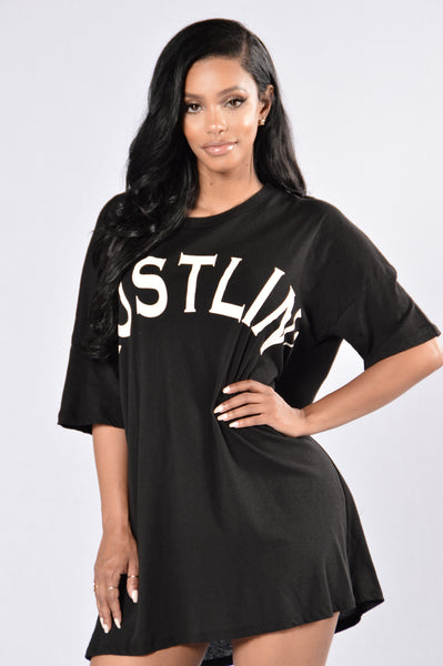 Always Hustlin' Tunic - Black