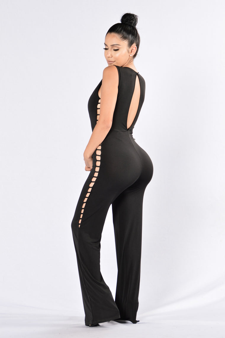 Don't Need No Man Jumpsuit - Black