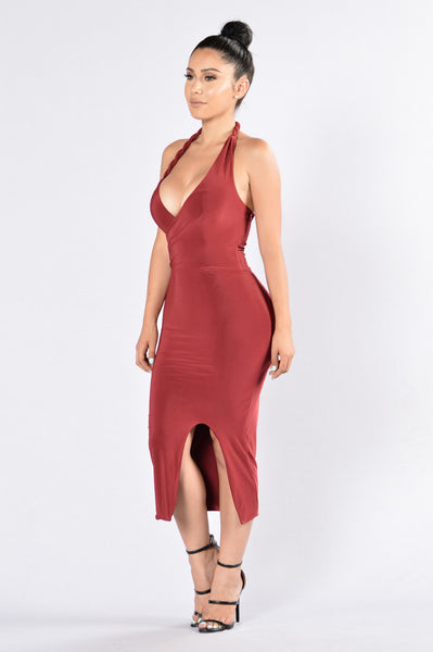 Echo Dress - Burgundy