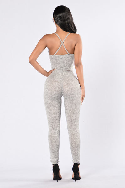 Deep Exhale Leggings - Grey