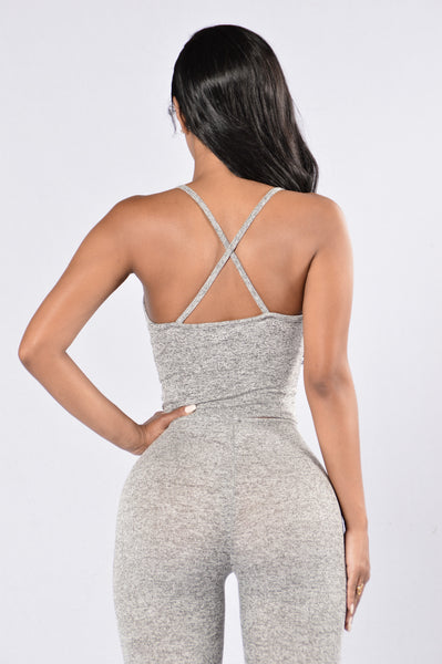 Deep Exhale Top - Grey