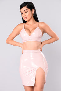 Innocent Or Not Crop Top - Blush
