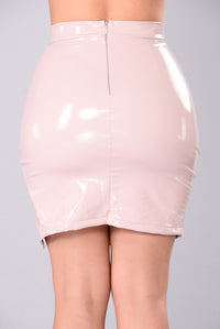 Innocent Or Not Midi Skirt - Blush
