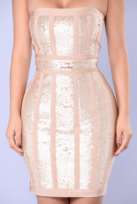 Sabina Bandage Dress - Nude