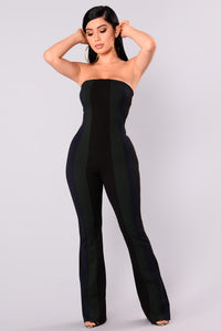 Blockbuster Color block Jumpsuit - Black
