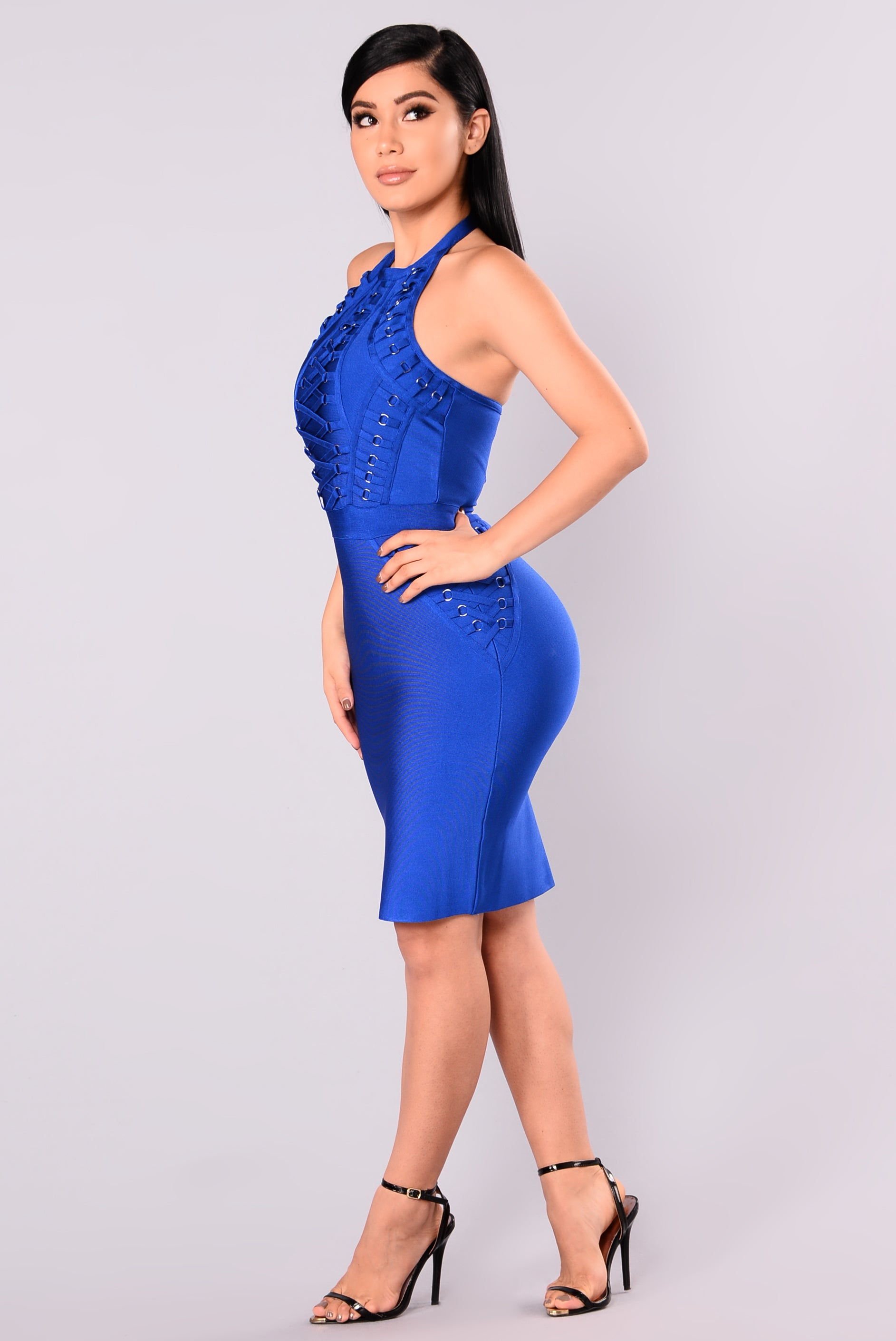 Royal Blue Bandage Dress \u2013 Fashion dresses