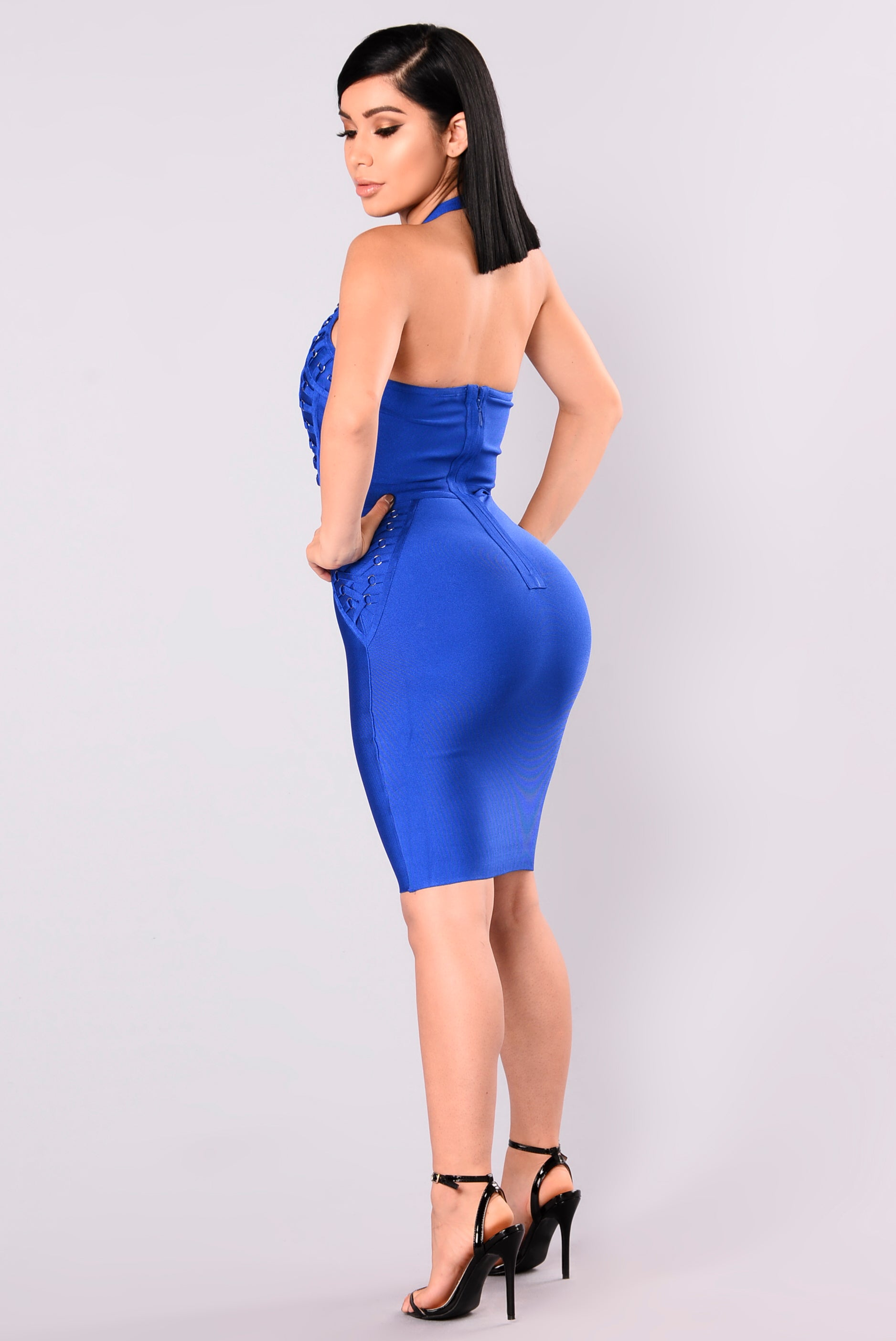 Royal Blue Bandage Dress