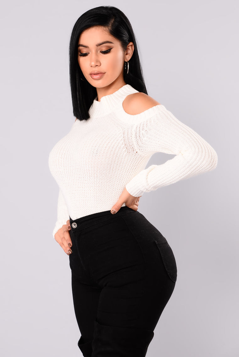 Cailyn Mock Neck Sweater - Ivory