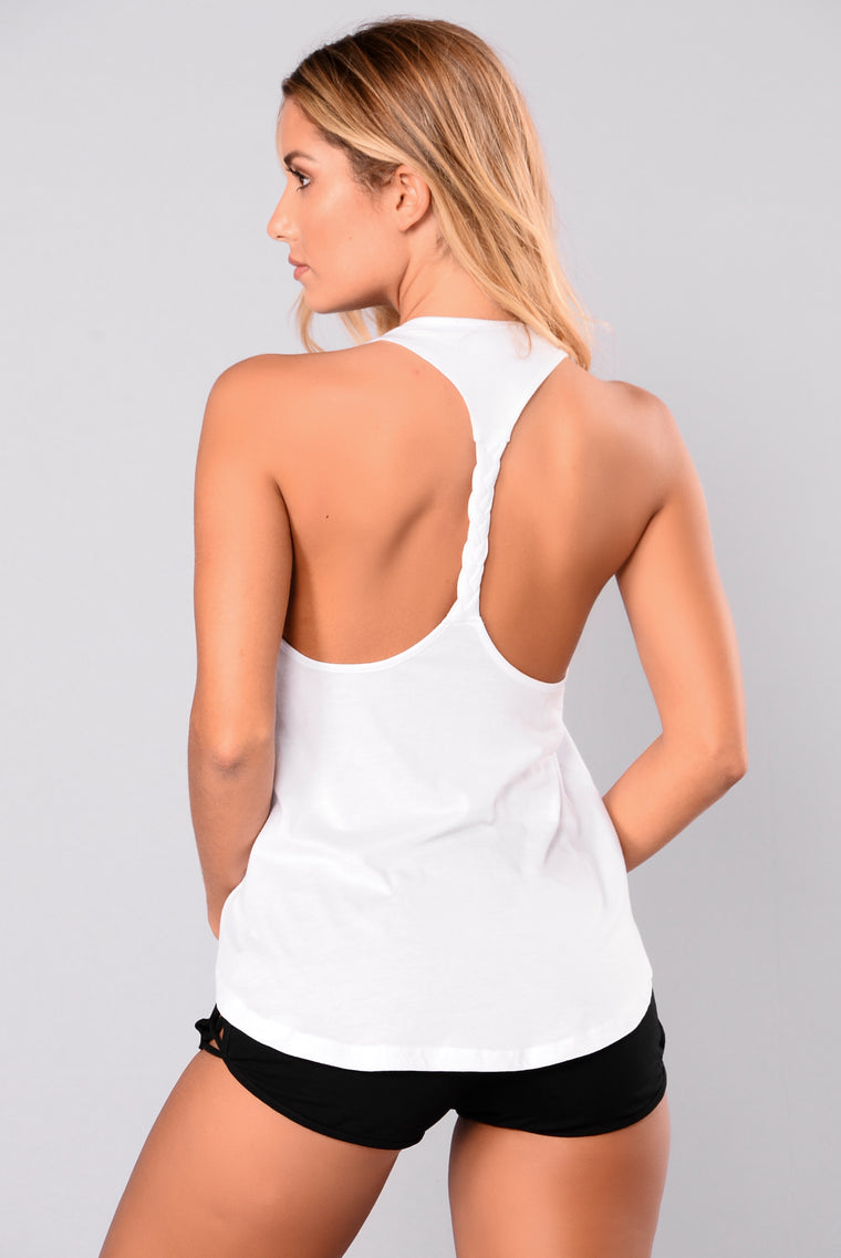 Arika Braided Active Tank Top - White