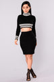 Better Than Ever Crop Sweater - Black