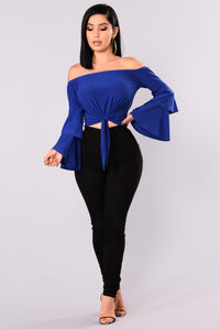Kamila Off Shoulder Top - Royal Blue