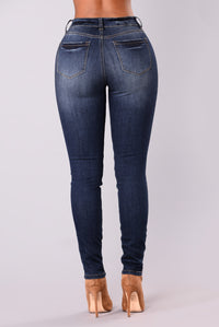 Eddy Distress Jeans - Dark Blue