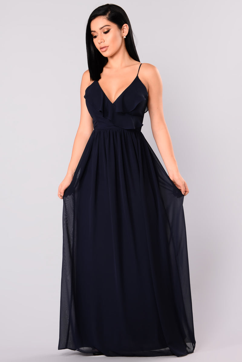 April Maxi Dress - Navy