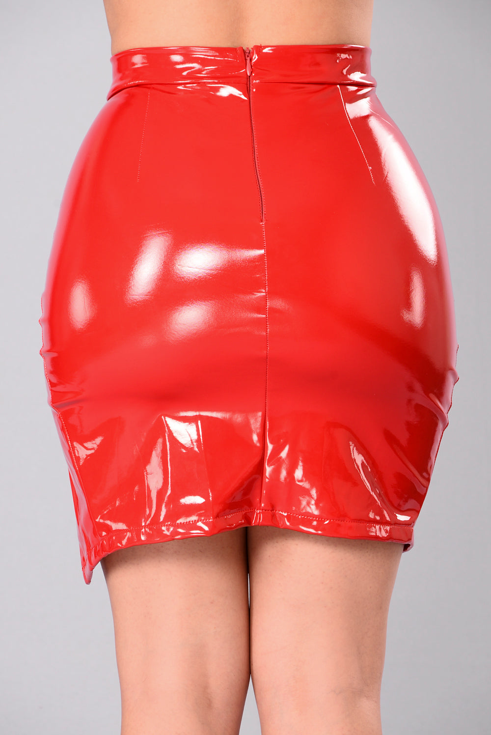 Innocent Or Not Midi Skirt - Red