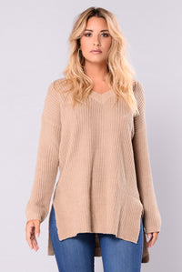 Camille Oversized Sweater - Khaki
