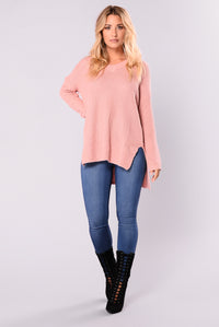 Camille Oversized Sweater - Mauve