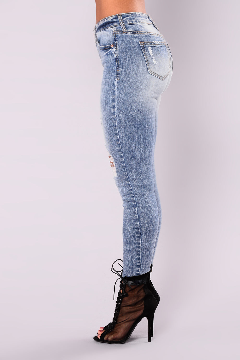 Guilty Pleasure Ankle Jeans - Light Blue Wash