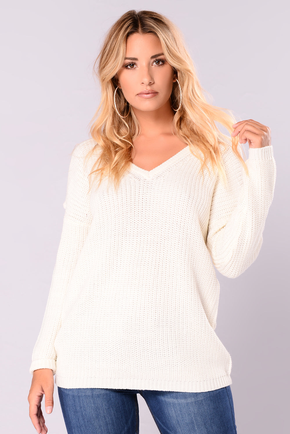 Carol Cold Shoulder Sweater - Ivory