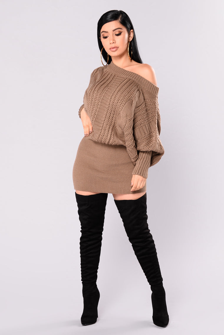 Millie Cable Knit Sweater - Khaki