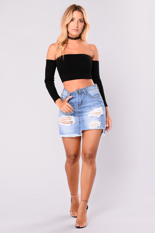 Talya Denim Skirt - Medium