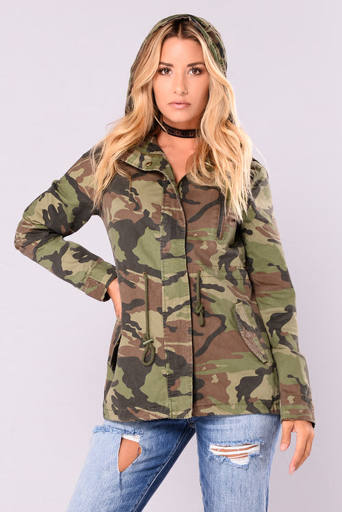 Candace Camo Anorak - Olive