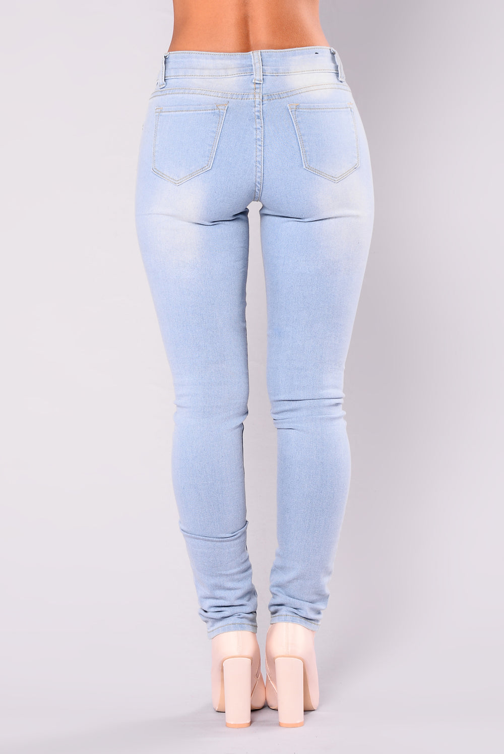 Hampton Skinny Jeans - Light Blue Wash