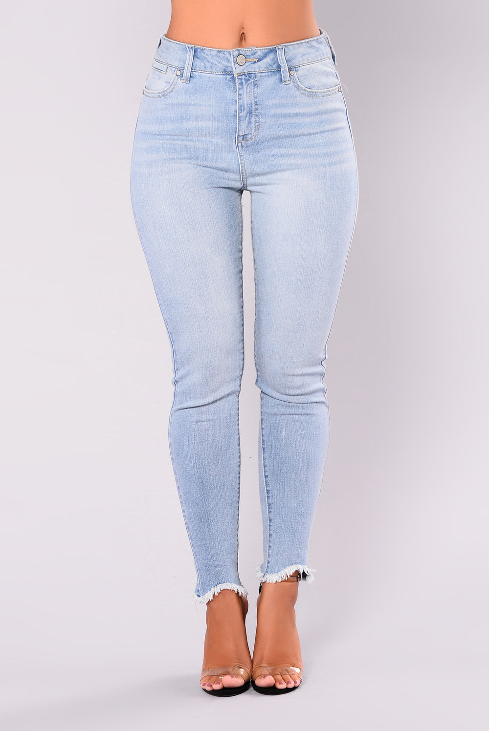 Russian Roulette Ankle Jeans - Light Blue Wash