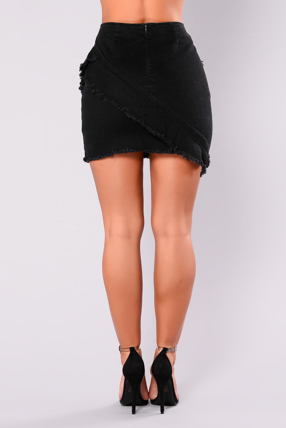 Clarice Denim Skirt - Black