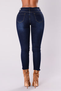 Make Some Noise Skinny Jeans - Dark Denim