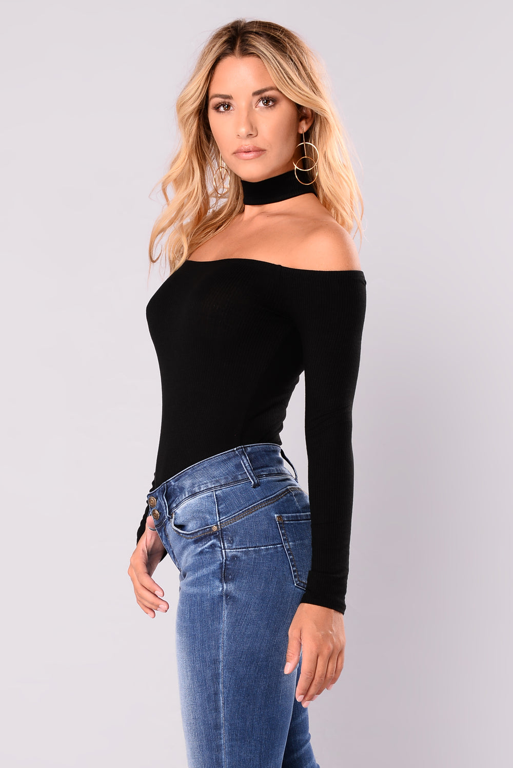 Delina Choker Top - Black