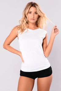 Granada Tie Back Active Tank Top - White
