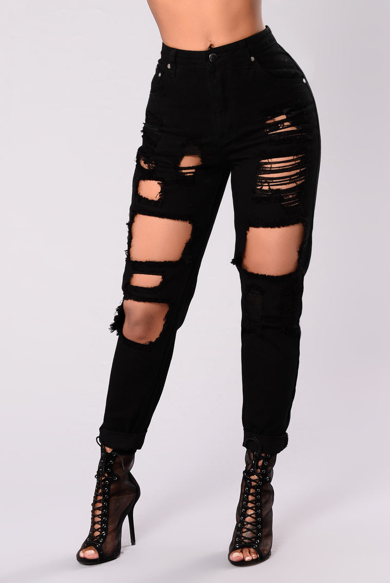 Bad To The Bone Boyfriend Jeans - Black 0a5ad22ce8a74