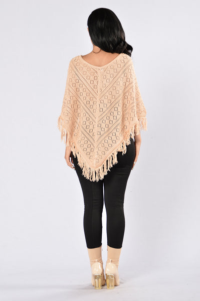 Looking For Adventure Poncho - Mocha
