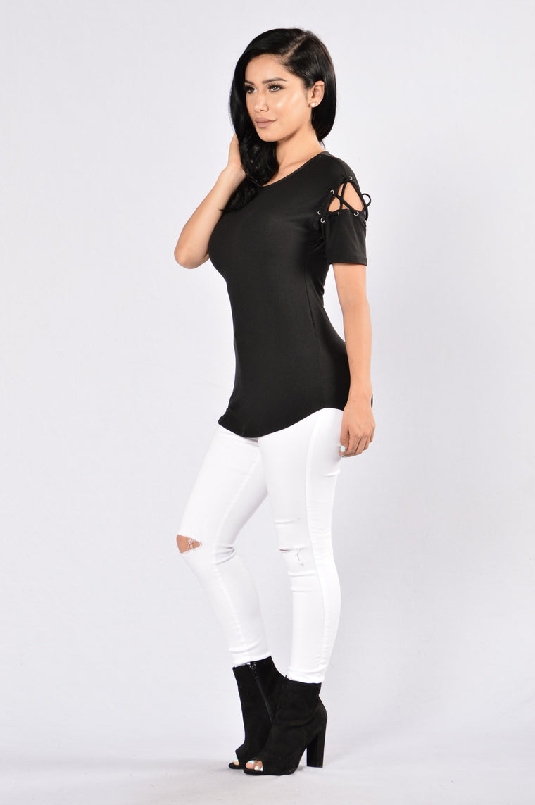 Needle and Thread Top - Black